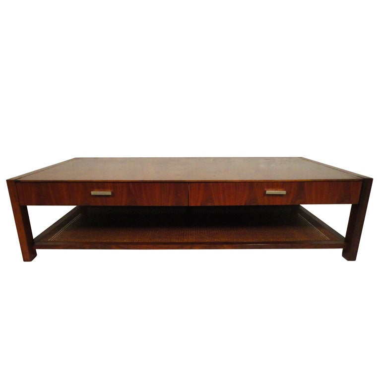 Mid Century American Walnut Coffee Table By Founders At 1stdibs