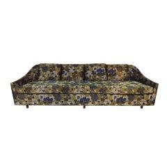 Harvey Probber Sofa with Jack Lenor Larsen Fabric