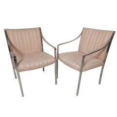 Pair Of Arm Chairs By Stow Davis