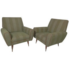 Pair of Mid-Century Club Chairs