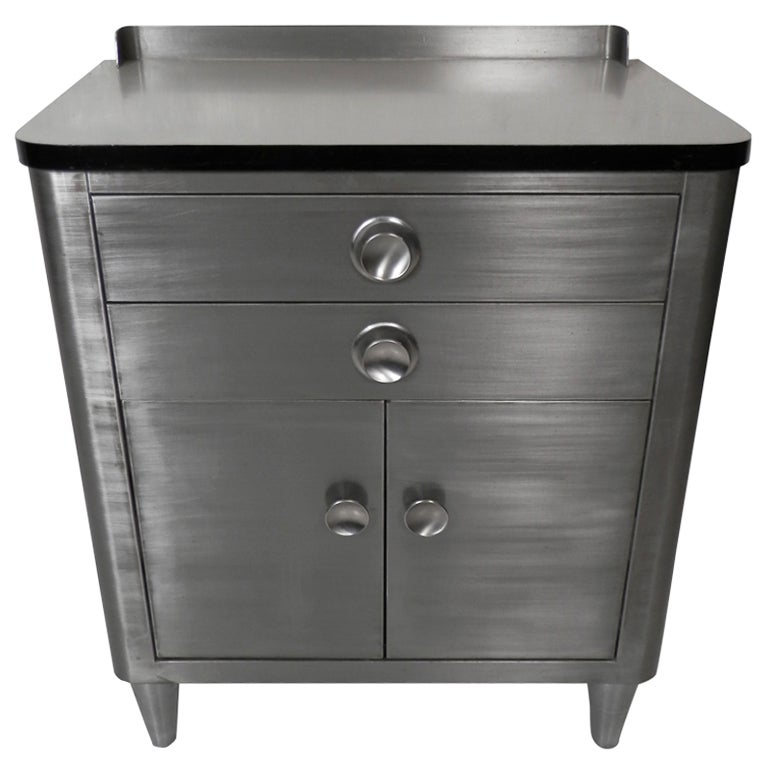 Industrial Metal Dental Cabinet At 1stdibs