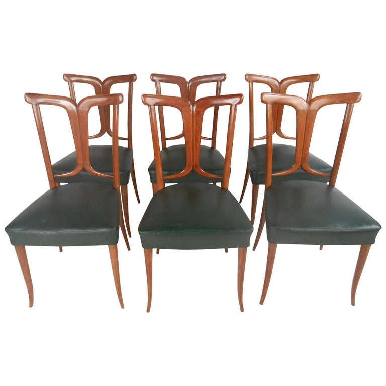 Osvaldo Borsani Style Dining Chairs