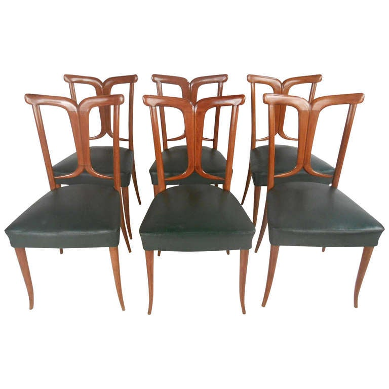 Osvaldo Borsani Style Dining Chairs For Sale