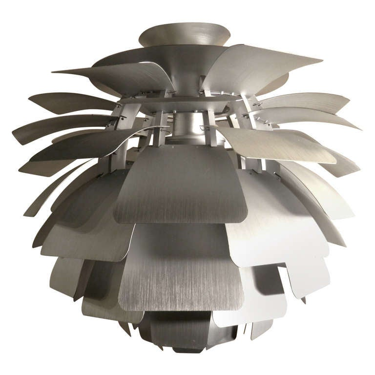poul henningsen style artichoke lamp for sale at 1stdibs. Black Bedroom Furniture Sets. Home Design Ideas