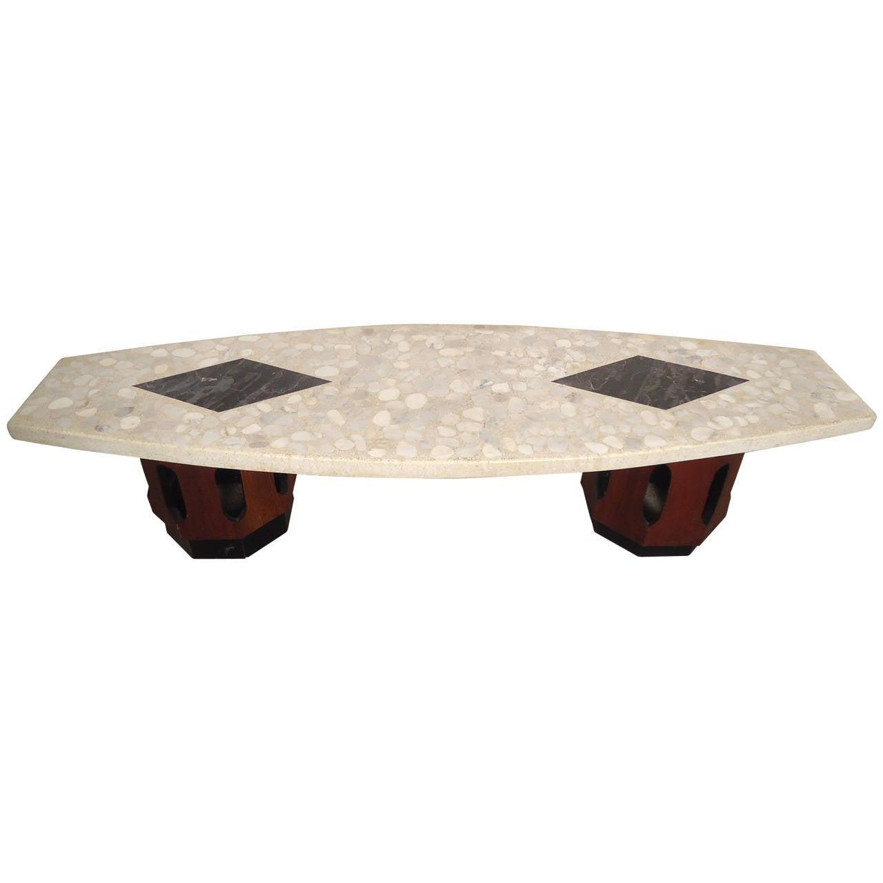 Superb Harvey Probber Terrazzo Top Table