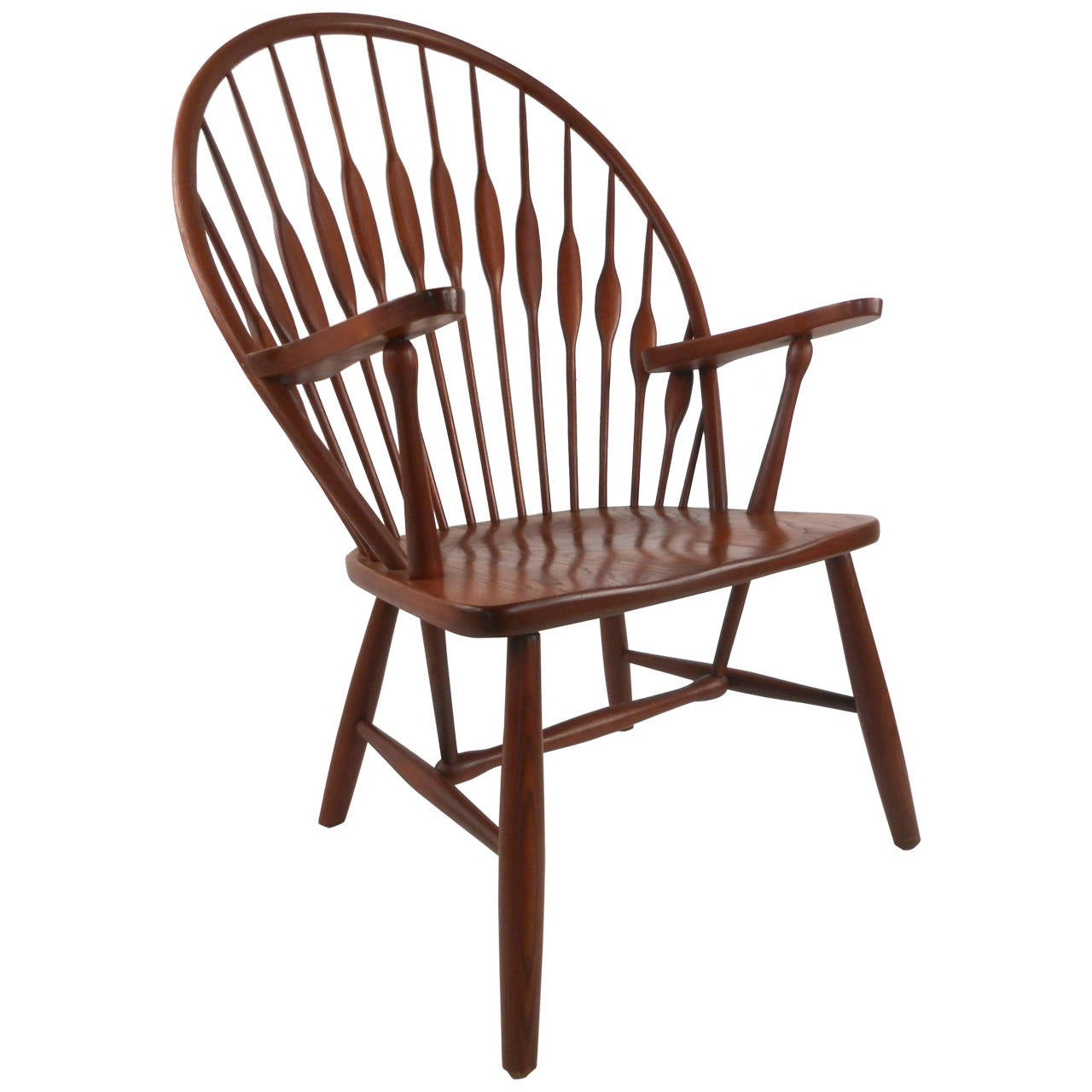 Contemporary Modern Cherrywood Peacock Side Chair For Sale