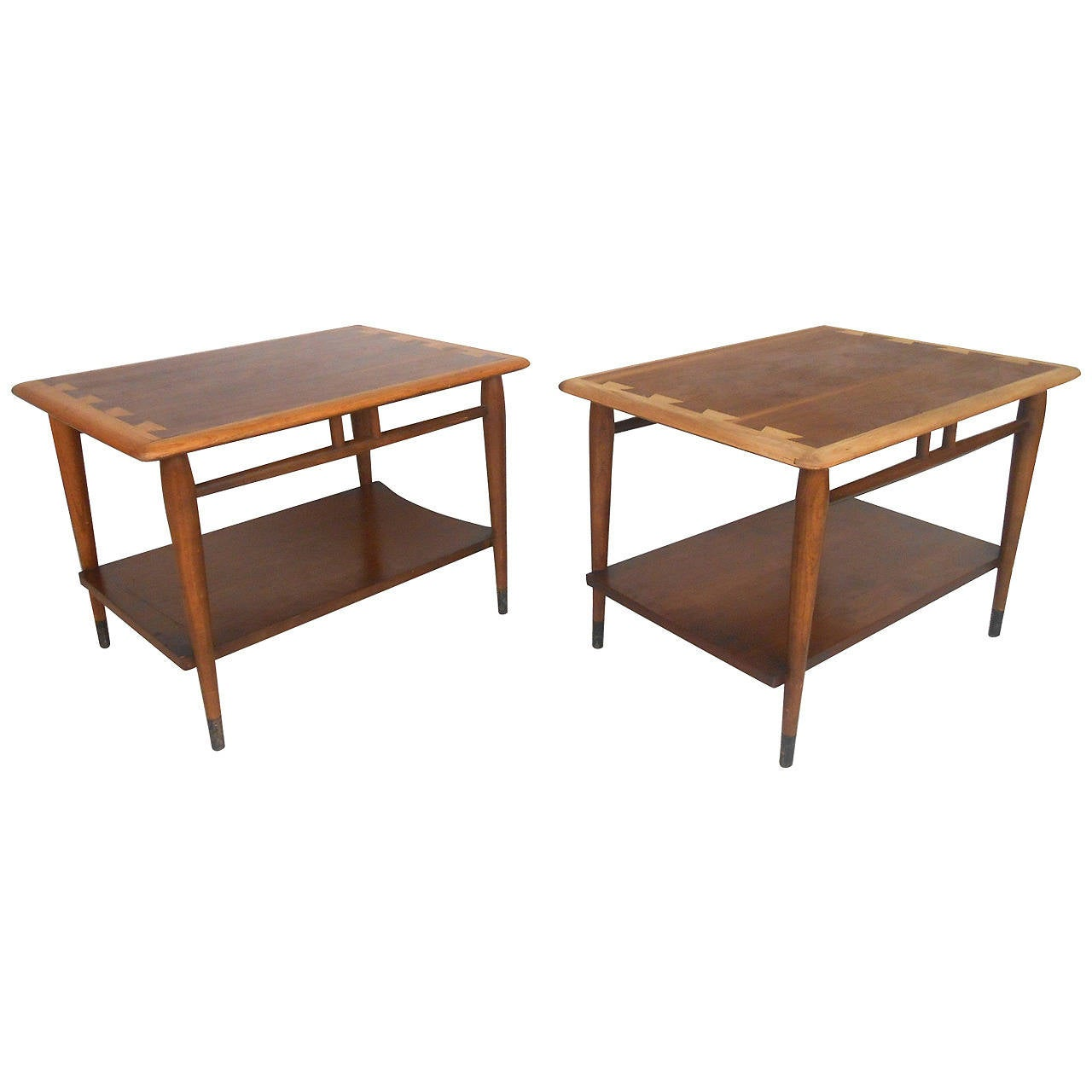 Pair of mid century modern acclaim style end tables by for Lane furniture