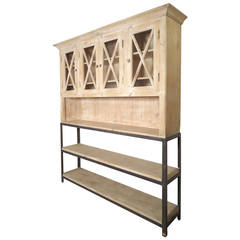 Large Rustic Style Hutch