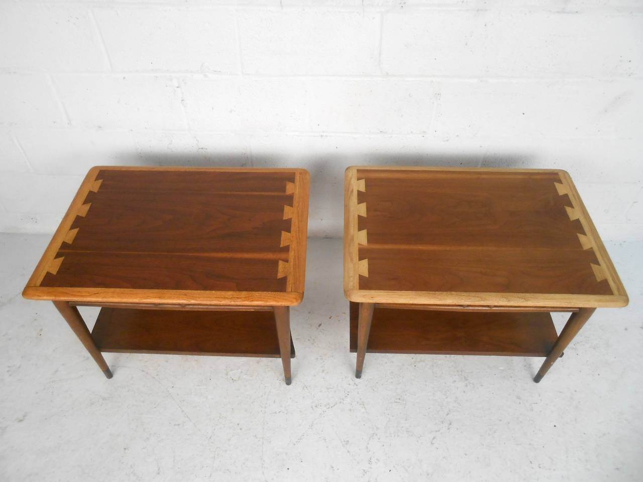 Pair Of Mid Century Modern Acclaim Style End Tables By
