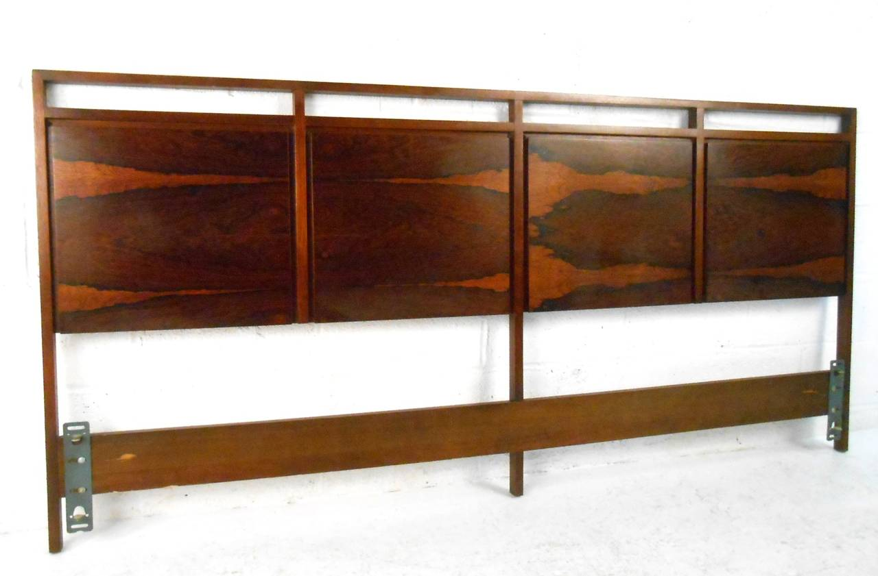 mid century modern rosewood king size headboard by paul. Black Bedroom Furniture Sets. Home Design Ideas