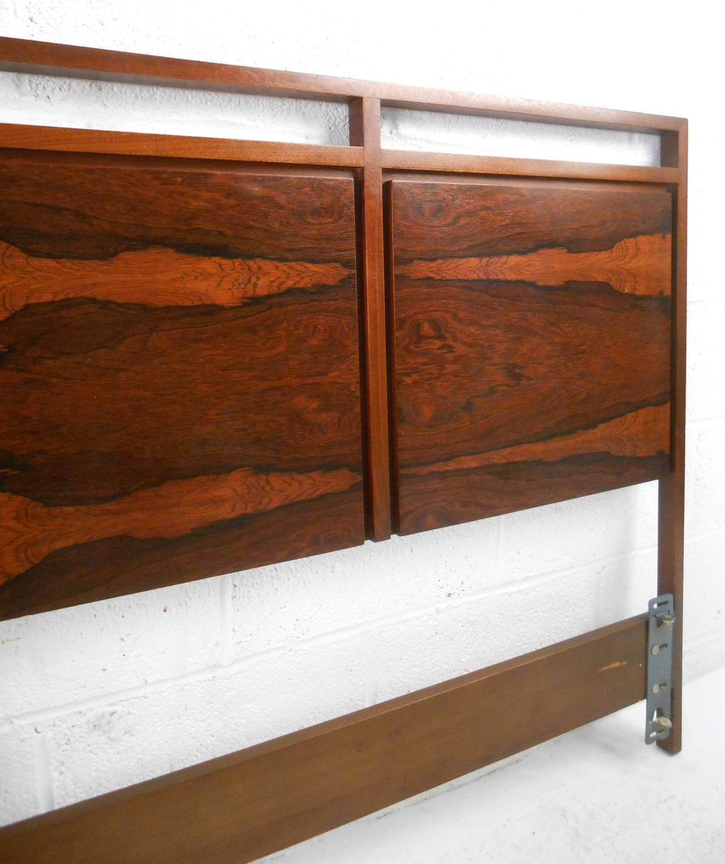 Mid Century Modern Rosewood King Size Headboard By Paul