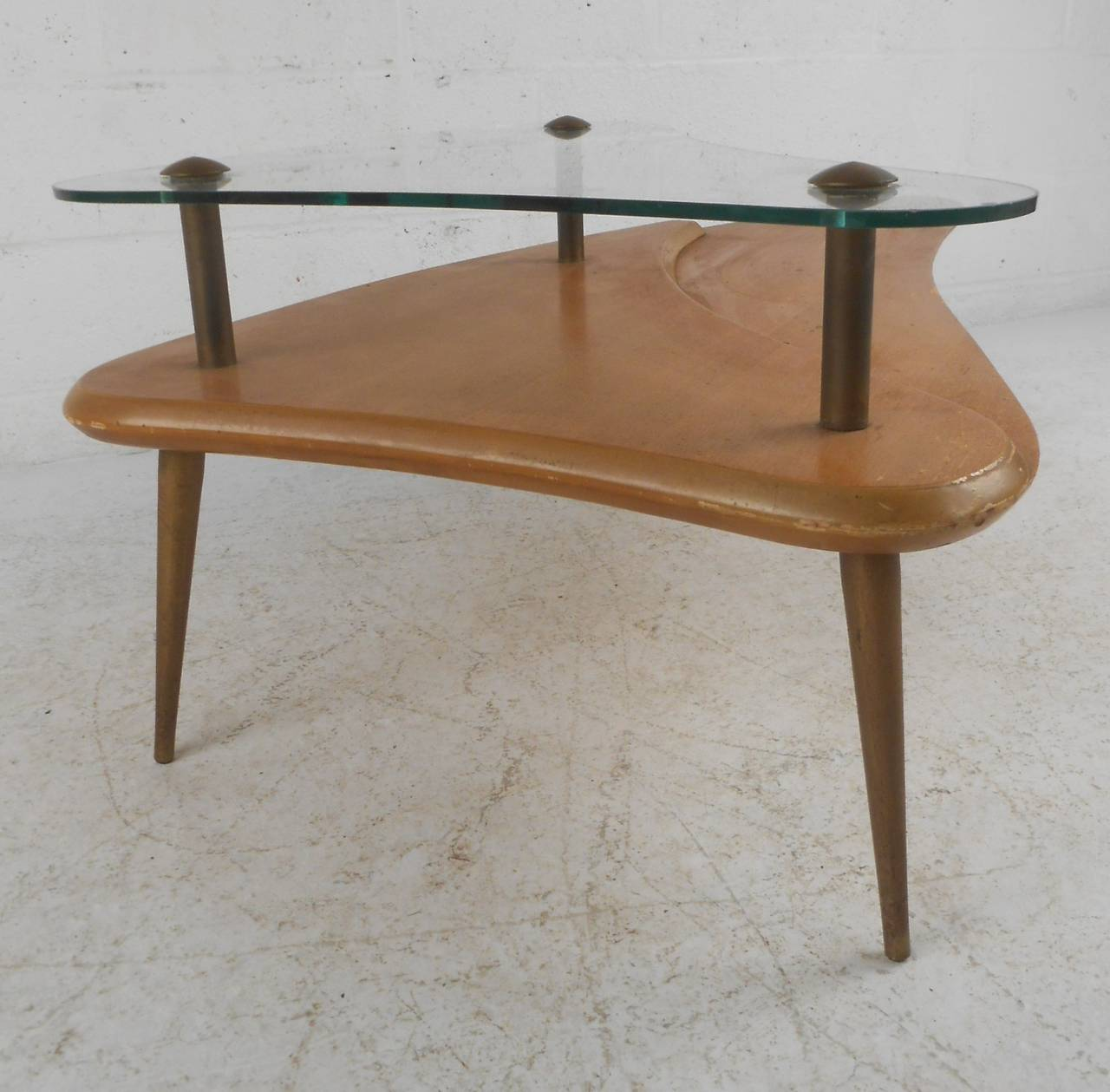 Mid-Century, Two-Tier Coffee Table For Sale At 1stdibs