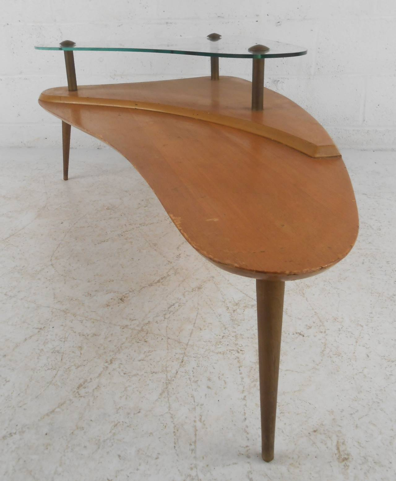 Mid Century Two Tier Coffee Table For Sale at 1stdibs
