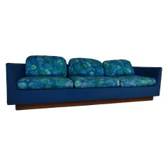 Long Three Seat Mid-Century Modern Sofa by Selig