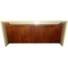 Rare Original Signed Vladimir Kagan Floating Sideboard With Lighted Interior