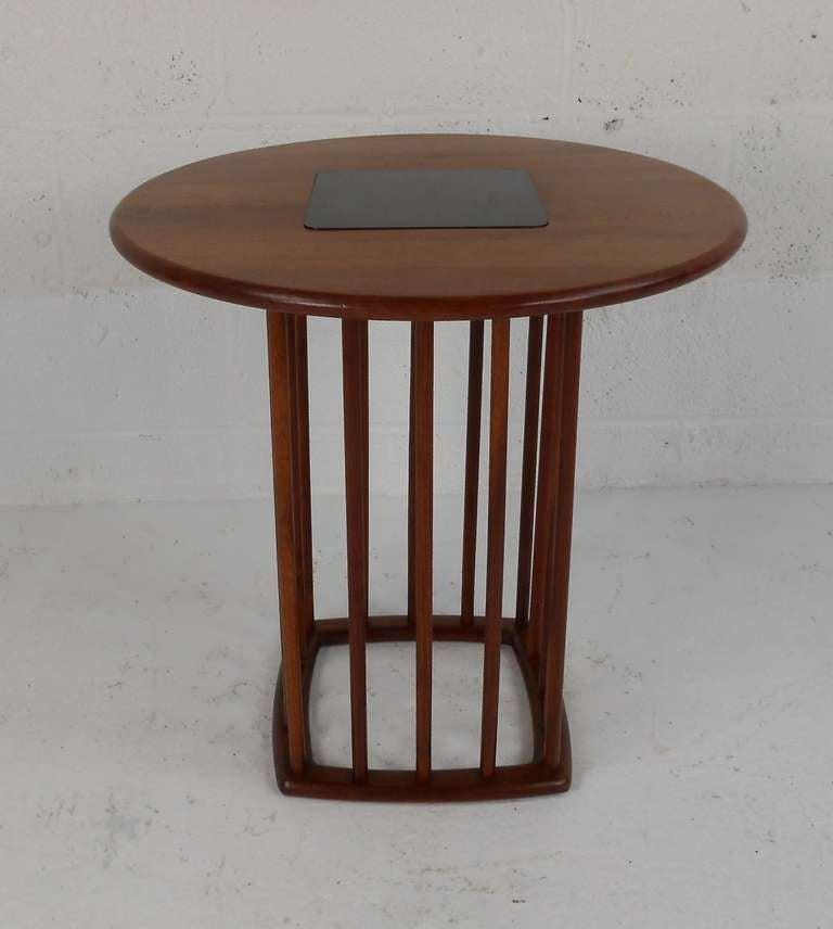 American Midcentury Walnut Side Table For Sale
