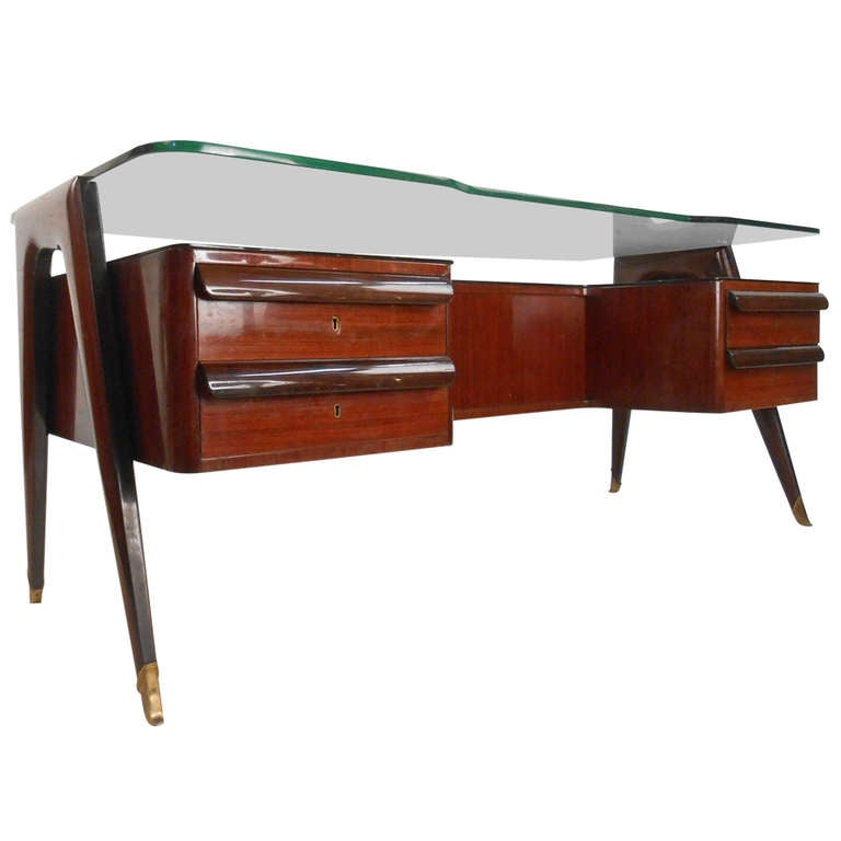 Mid Century Executive Desk By Dassi For Sale