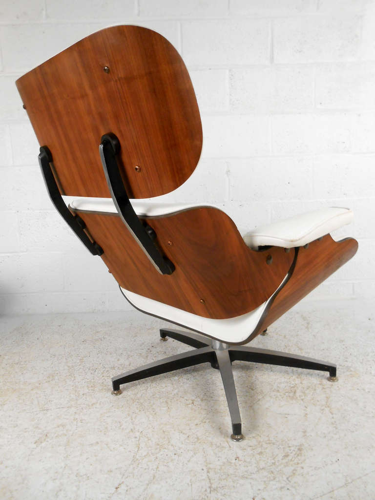 mid century modern eames chair and ottoman by plycraft at 1stdibs