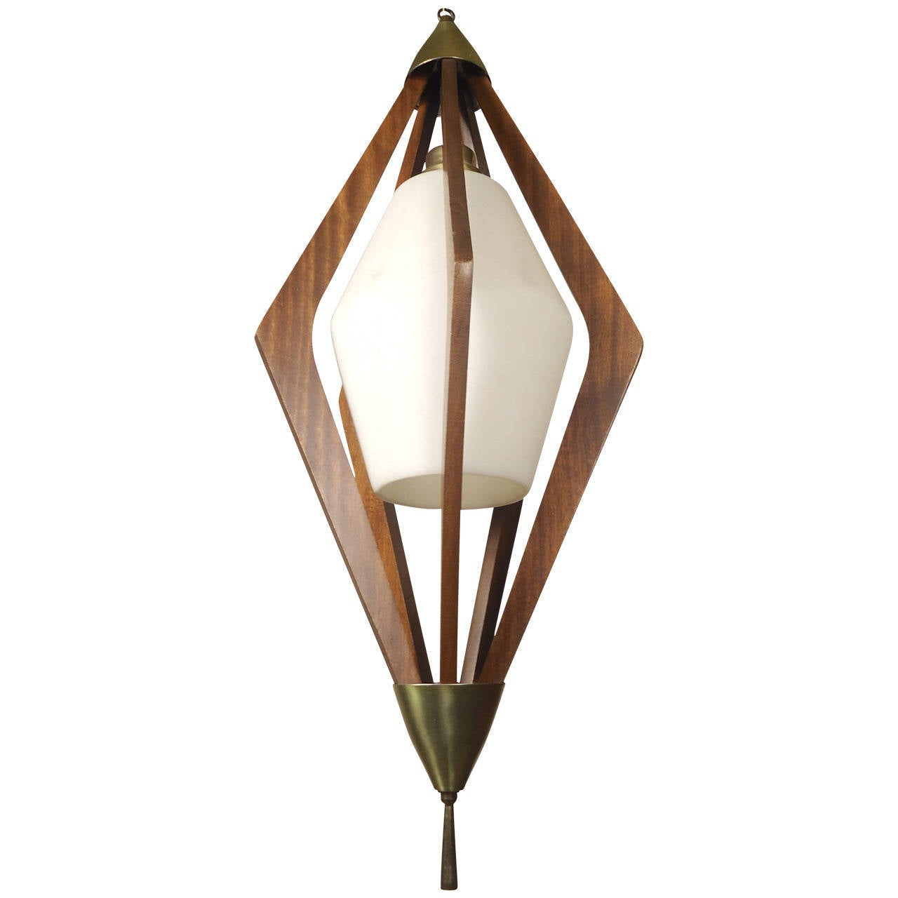 Mid century modern hanging pendant at 1stdibs for Mid century modern hanging lamp