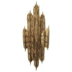 Brutalist Wall Sconce by Tom Greene