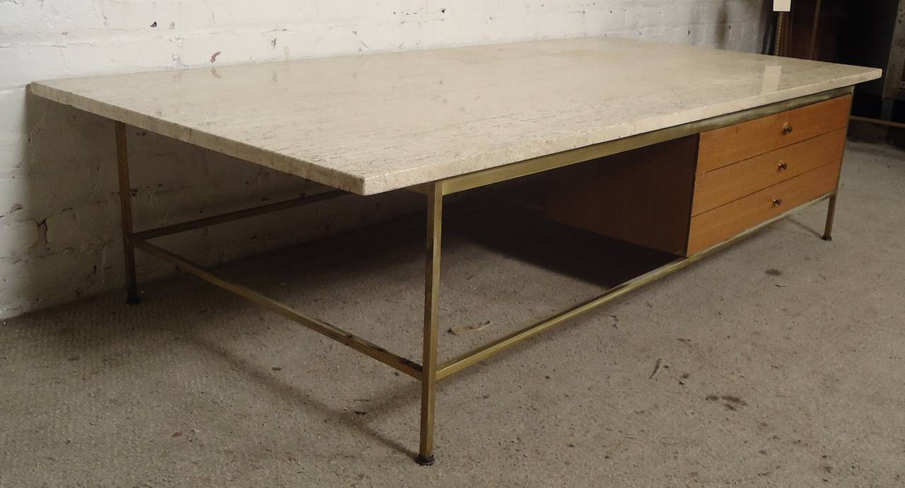 MarbleTop Coffee Table Designed By Paul McCobb For Calvin At Stdibs - Calvin coffee table