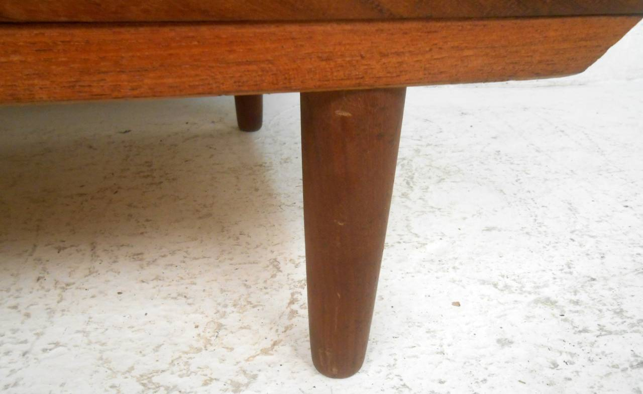 Mid-Century Modern Six Drawer Danish Teak Highboy Dresser For Sale 3