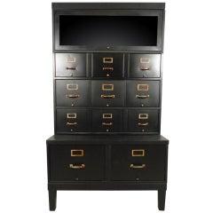 Vintage Shaw Walker File Cabinet