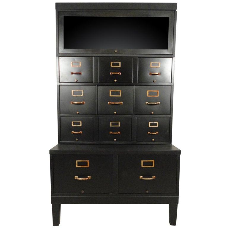 Vintage Shaw Walker File Cabinet At 1stdibs