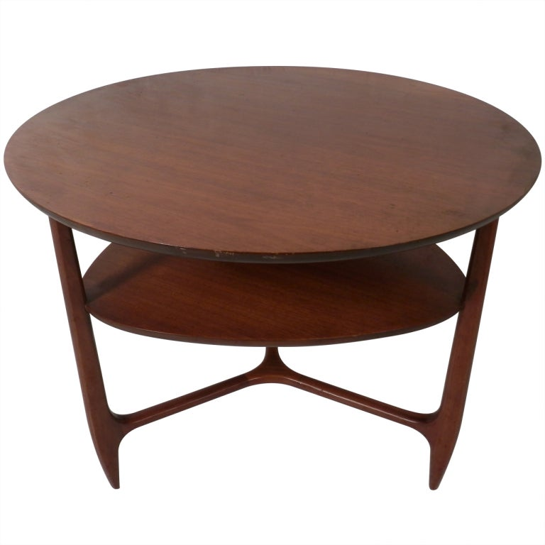 Vintage Modern Round Coffee Table At 1stdibs