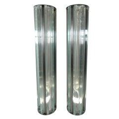Pair Of Lucite Pillars