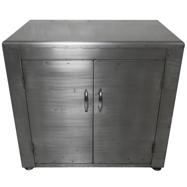 industrial metal cabinet industrial metal cabinet w retractable shelf at 1stdibs 17835