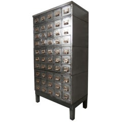 Industrial Stacked Card File Cabinet