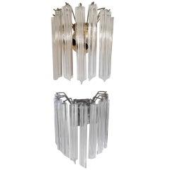 Hanging Sconces w/ Cut Prism Glass