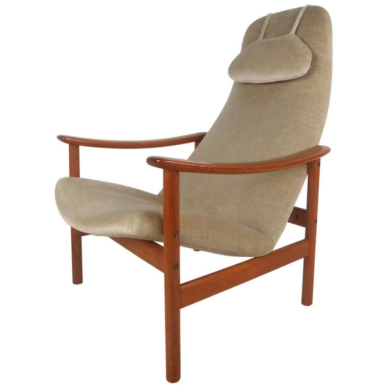 Vintage Mid Century Contour Lounge Chair By Ljungs Industrier AB Malmo 1