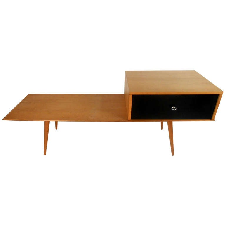 Mid Century Modern Paul McCobb Coffee Table W/ Drawer For