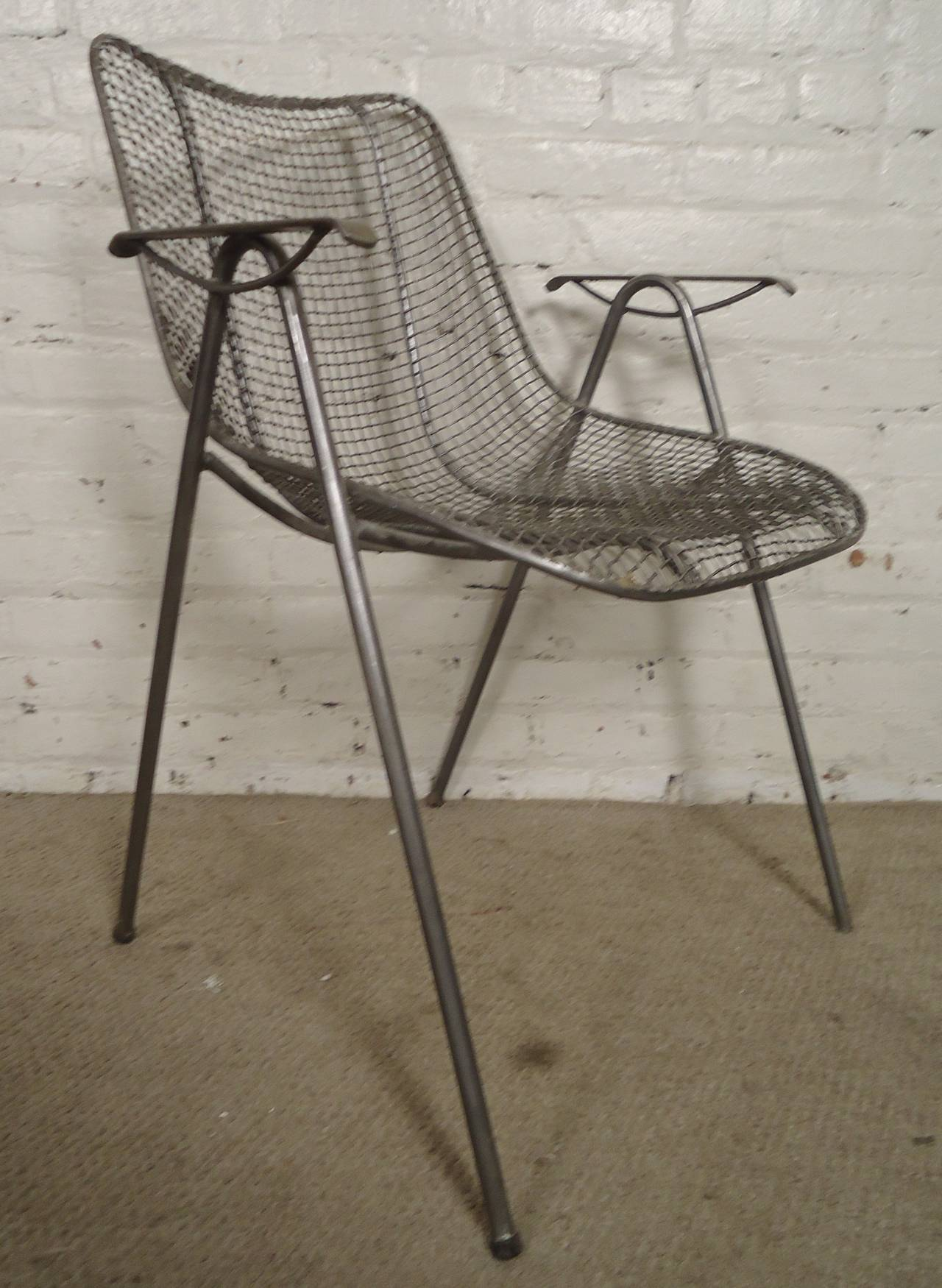 mid century modern wire arm chair for sale at 1stdibs