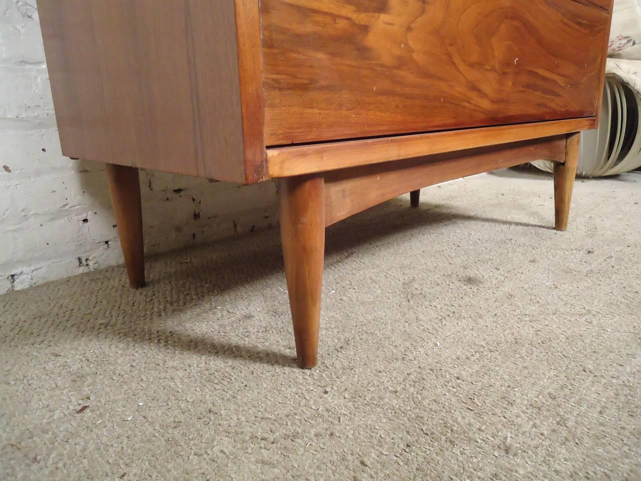 drawer modern pulls cabinet beautiful century mid kitchen of drawers