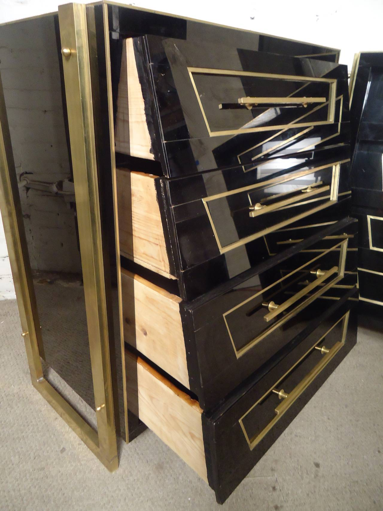 Eugenio Escudero Style Dressers with Marvelous Finish In Good Condition For Sale In Brooklyn, NY