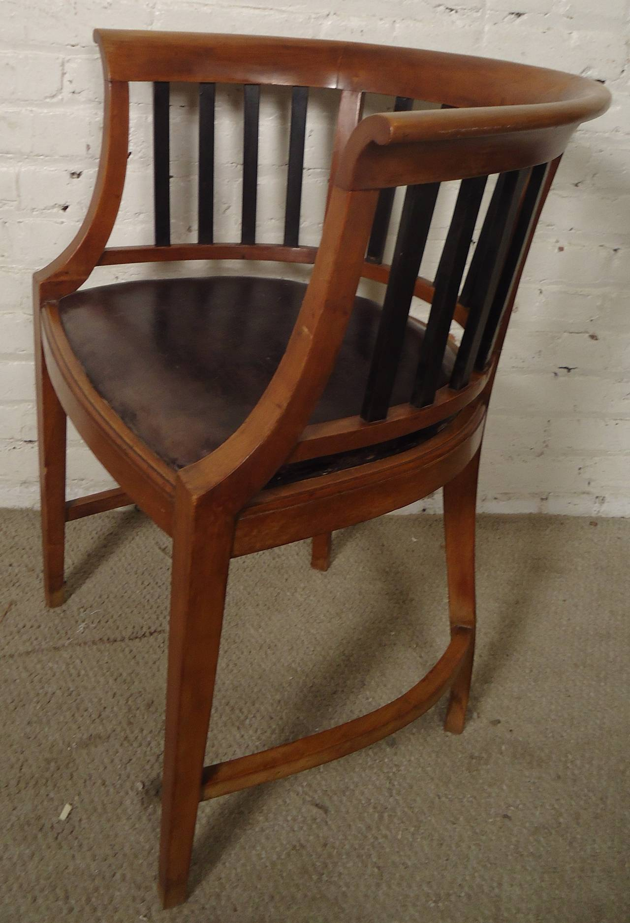Unique Vintage Round Back Spindle Chair at 1stdibs