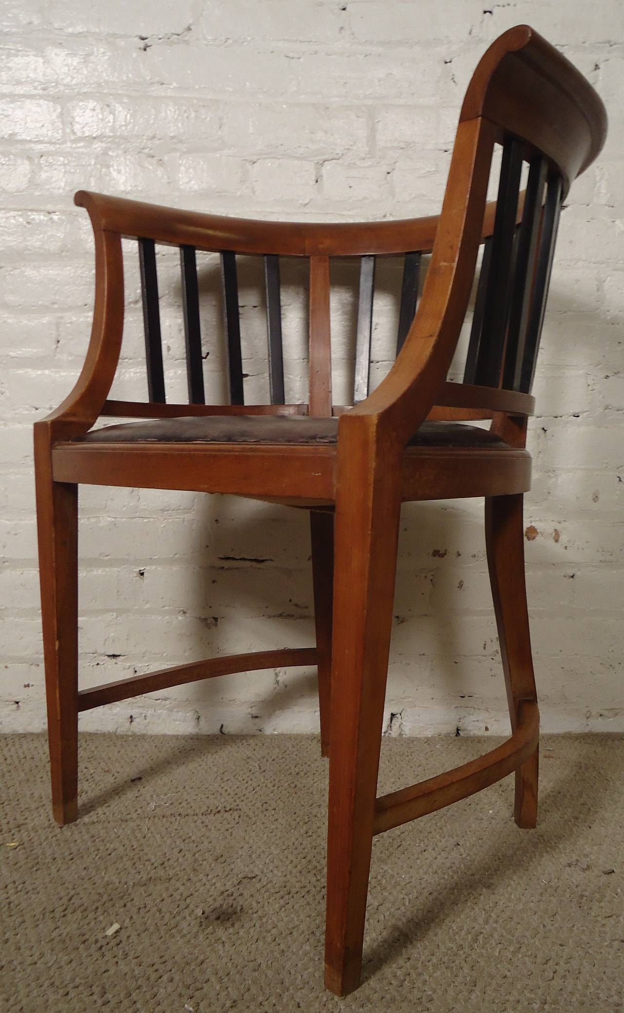 Unique Vintage Round Back Spindle Chair For Sale At 1stdibs