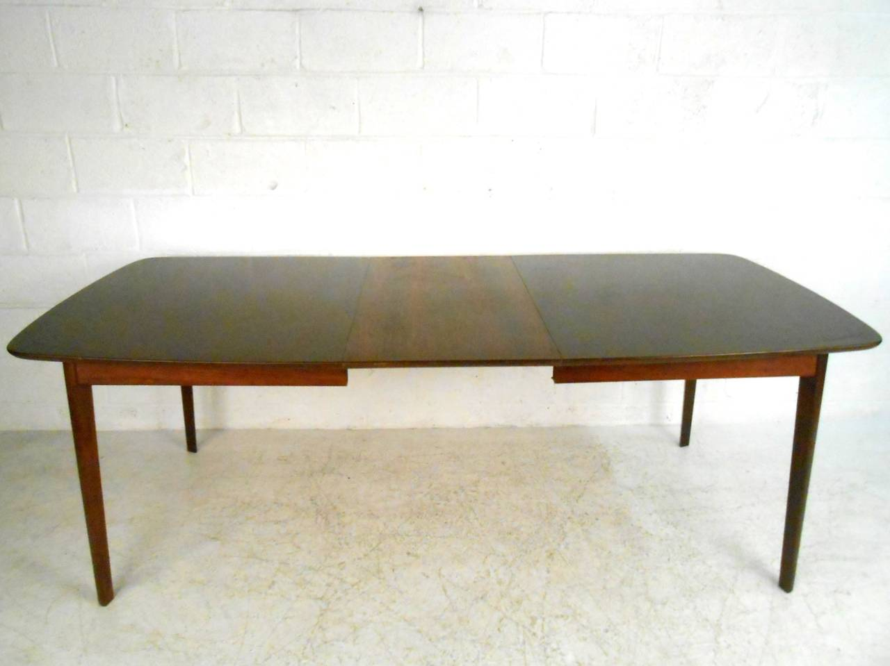 Unique mid century modern dining set table with high back