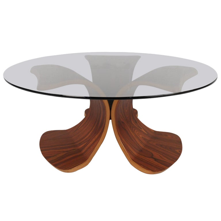 Vintage Modern Bentwood Coffee Table For Sale At 1stdibs