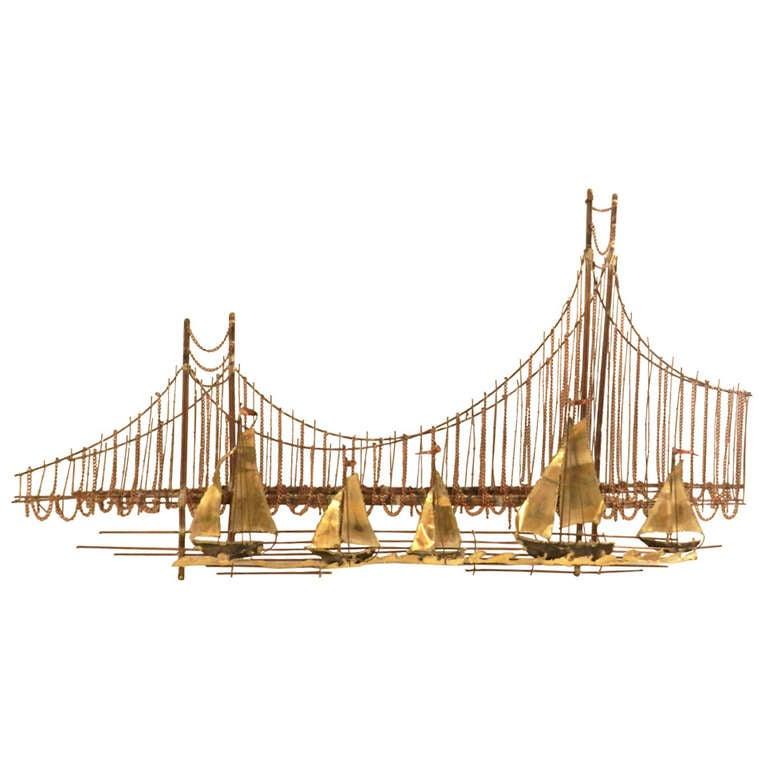 golden gate bridge metal sculpture at 1stdibs. Black Bedroom Furniture Sets. Home Design Ideas