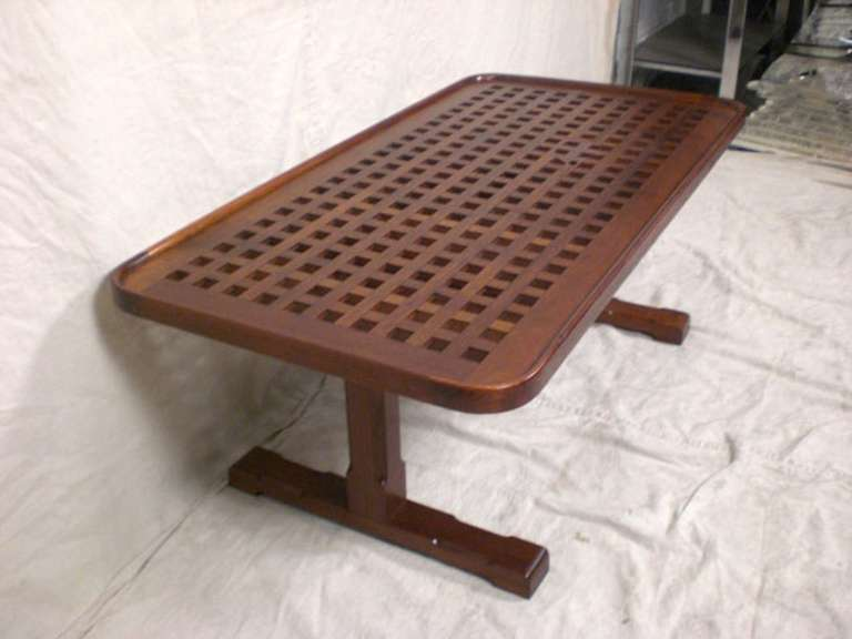 Mid century modern nautical coffee table in teak at 1stdibs for Nautical coffee table