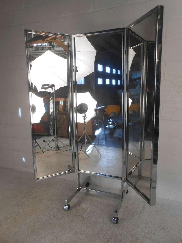 Three Panel Dressing Mirror At 1stdibs