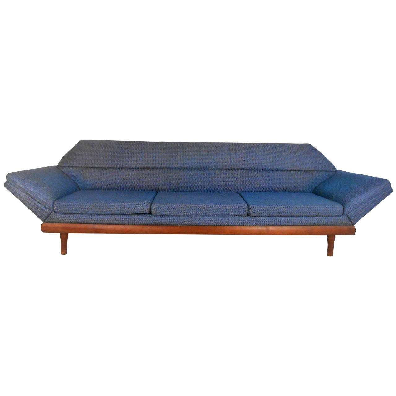 mid century modern adrian pearsall style sofa at 1stdibs. Black Bedroom Furniture Sets. Home Design Ideas