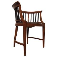 Unique Vintage Round Back Spindle Chair