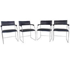 Set of Four Vintage Modern Dining Armchairs