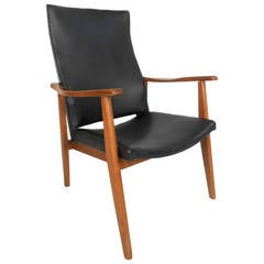 Mid-Century Modern American High Back Lounge Chair