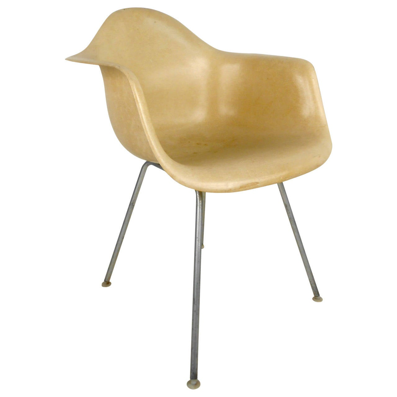Mid century modern fiberglass shell chair by eames for herman miller for sale - Herman miller chair eames ...